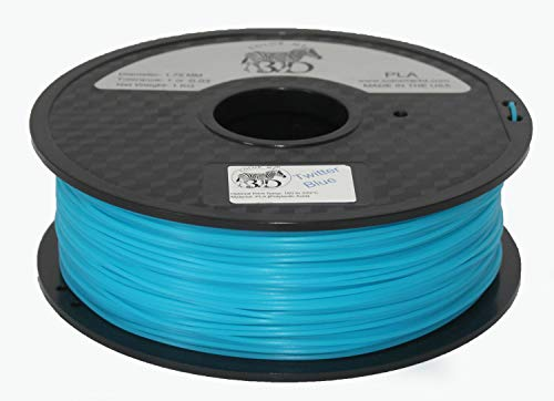 COLORME3D Quality 3D Printer Filament Twitter Blue PLA-1KG (2.2 lbs) Made in The USA 1.75 mm +/- 0.05 mm Accuracy-Twitter Blue PLA by Color Me 3D
