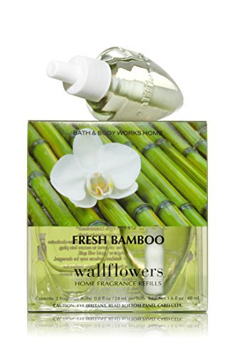 Bath & Body Works Wallflowers Home Fragrance Refill Bulbs 2 Pack Fresh Bamboo by Bath & Body Works