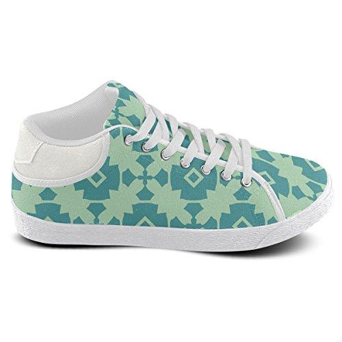 Men Pattern Chukka Artsadd For Shoes Tile Teal Mint Model003 Geometric Canvas qwPPIUz