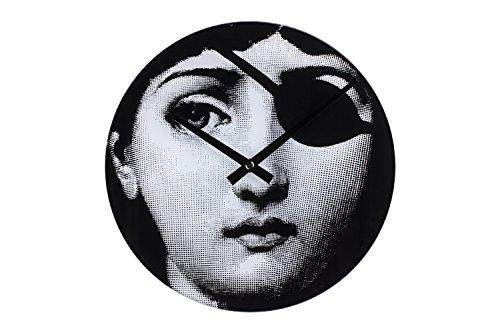 Stilnovo Mid Century Girl Hacker Wall Clock, Black/White