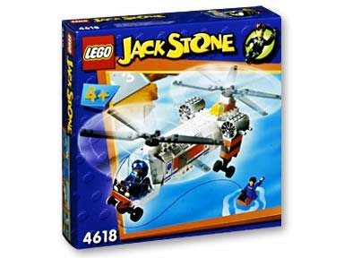 LEGO Jack Stone 4618 Twin Rotor Cargo Helicopter