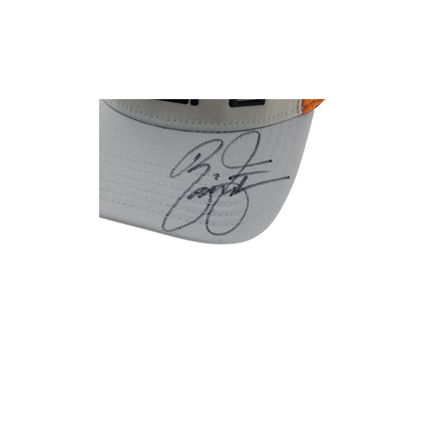 Rickie Fowler Autographed Signed Orange and White Sprayed Cobra Fitted Hat JSA Authentication