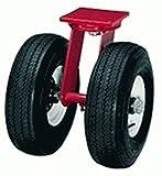 Hamilton 10'' Dual Wheel Pneumatic Swivel Plate Caster, 960 lb Capacity