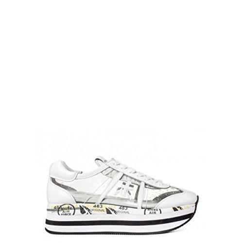 Bianco Mujer Piel Zapatillas Para Blanco de PREMIATA BwOTpqZq