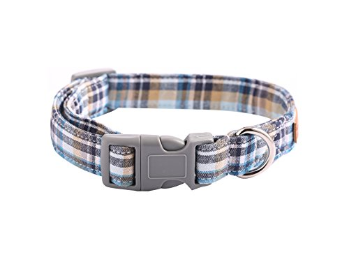 Picture of Lionet Paws Dog and Cat Collar with Bowtie Grid CollarPlastic Buckle LightAdjustable Collars for SmallMediumLarge Dogs