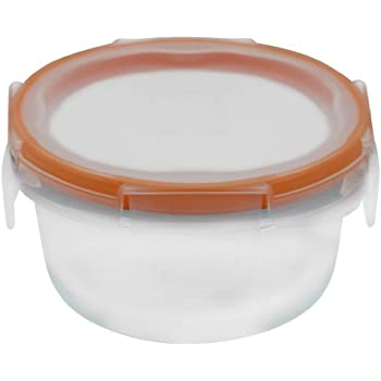Snapware 1-Cup Total Solution Round Food Storage Container, Glass