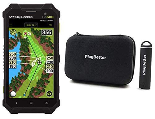 """PlayBetter SkyCaddie SX500 Handheld Golf GPS Bundle Portable Charger & Hard Case 