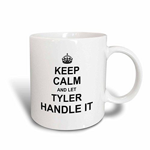 3dRose 233412_6 Keep Calm And Let Shawn Handle It - Funny Personal Name Mug, 11 oz, ()