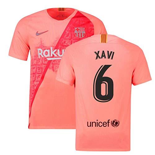 c70ec355bf8 2018-2019 Barcelona Third Nike Football Soccer T-Shirt Jersey (Xavi 6)