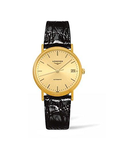 Longines La Grande Classique Presence - L4.821.2.32.2 - Yellow Gold PVD Champagne Dial Date Automatic Women's