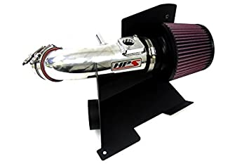 HPS 27-173WB Black Short Ram Air Intake Kit with Heat Shield Non-CARB Compliant