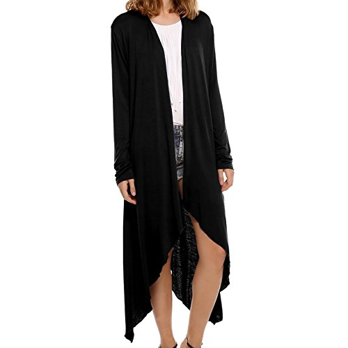 Top Cardigan Manches Elonglin Femme Longues Longue Ouvert Gilet Asym tAUxPq0xw