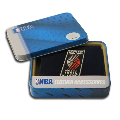 - NBA Portland Trailblazers Embroidered Leather Trifold Wallet