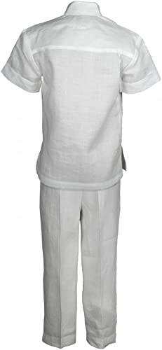 Mojito niños, 100% lino, dos bolsillo guayabera camisa y Pant Set: Amazon.es: Ropa y accesorios