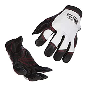 Lincoln Electric K2977-M - Guantes de trabajo (piel, talla M), color blanco y negro: Amazon.es: Amazon.es