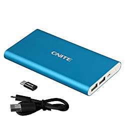 New generation Onite 10000mAh Power Bank! There is the Micro USB cable for charging the power bank originally. Moreover, we add the adapter of type c to Micro USB to satisfy more demand! You could use the adapter to charge your type c phone without e...