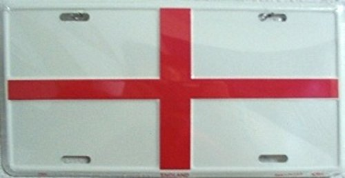 England St George Flag License Plate Tag City Novelty Auto