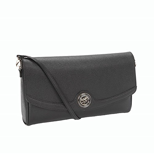 Borsa a Tracolla PIero Guidi | Royal | Nero | 30 x 18 x 5 cm