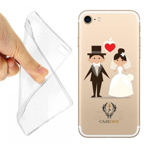 2 opinioni per CASEONE MP CUSTODIA COVER CASE WEDDING DAY sposi matrimonio PER IPHONE 7