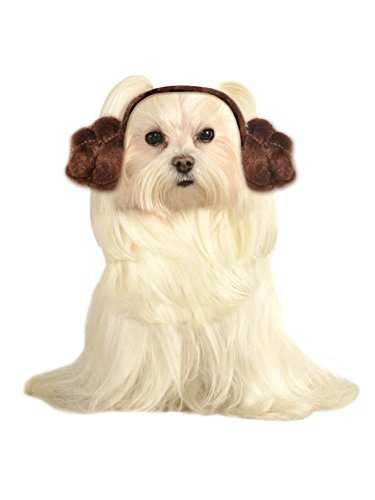 Star Wars Dog Headband Princess Leia Buns, Small and Medium ()