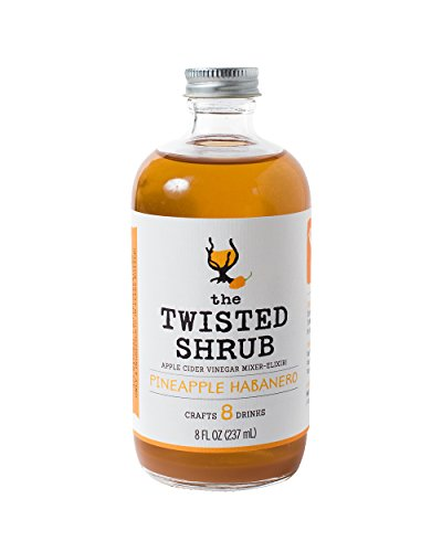 The Twisted Shrub - PINEAPPLE HABANERO - Apple Cider Vinegar drink mixer for healthier beverages. Try all 6 flavors!