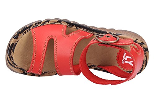 Sandals London Fly London P500722013 Fly Sandals P500722013 Red 8RXwAqPxn