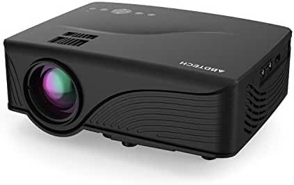 Abdtech Mini LED Multimedia Home Theater Projector with 1200 Luminous Efficiency - Max 120