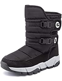 Womens Snow Boots Waterproof Outdoor Mid Calf Warm Winter Fur Lined Shoes