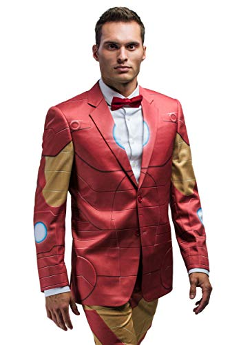 Marvel Iron Man Slim Fit Adult Suit Jacket Outer Armor Print - 42R]()