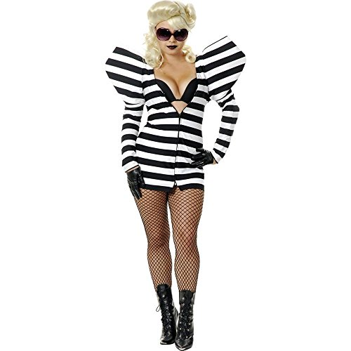 Charades Womens Lady G Prison Dress Costume (Big Puffy Dresses For Halloween)