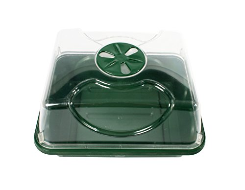 EarlyGrow 70727 Small Domed Propagator, 8.5'' x 7'' x 5'', Black/Dark Green by EarlyGrow