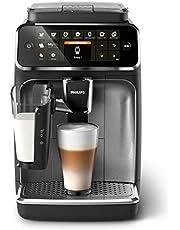 Philips Espressomachine Series 4300 - 8 Koffiespecialiteiten - Eenvoudig LatteGo melksysteem - Intuitief touchdisplay - 2 Gebruiksprofielen - 1.8 l Waterreservoir - 275 g Bonenreservoir - EP4346/70
