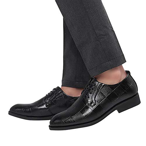 Todaies Fashion Men Business Leather Shoes Casual Pointed Toe Lace Shoe Male Suit Shoes