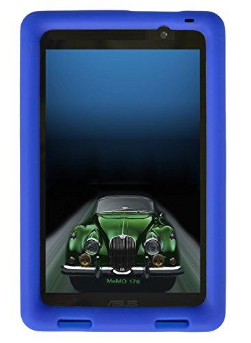 - Bobj Rugged Case for ASUS MeMO Pad 7 Models ME176C, ME176CX, ME176CE, K013, K013C (Not for MeMO 7 LTE) - BobjGear Custom Fit - Patented Venting - Sound Amplification - Kid Friendly (Batfish Blue)