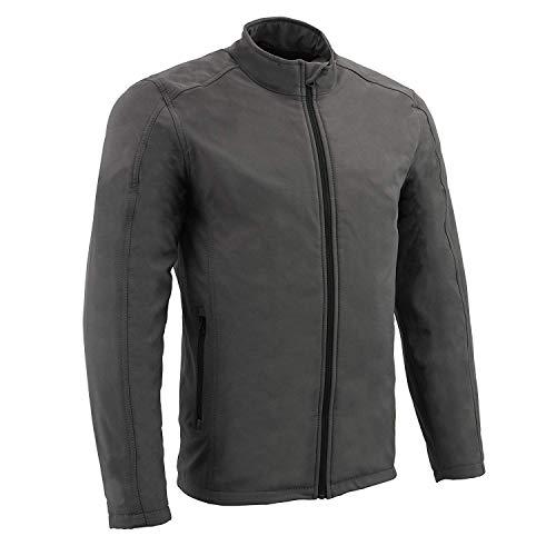Milwaukee Performance Men's Waterproof Lightweight Zipper Front Soft Shell Jacket (Grey, XL)