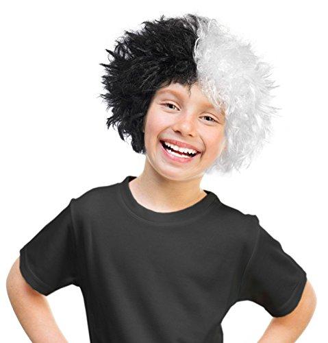 [Cruella Deville Wig Cruella De Vil Wig Cruella De Vil Costume Kruella De Vil Wig] (Kids Cruella Deville Costumes)