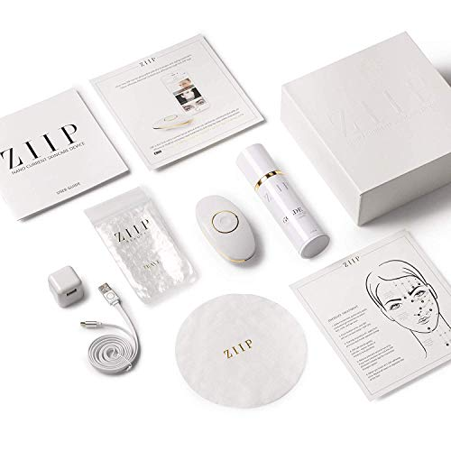 ZIIP Beauty Nanocurrent And Microcurrent At-Home Facial Device for Lifting, Sculpting, and Skin Tightening, Wrinkles, Pigment, and Acne, Patented and Portable, Kit, Conductive Gel, Charger, & Bag
