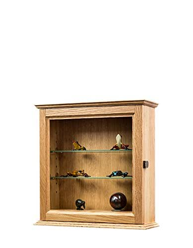 Amazon small oak curio cabinet hardwood made in