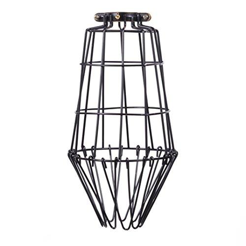 ArtifactDesign Long Metal Wire Light Cage Guard for Pendant Lamps DIY Lighting Fixtures (Hand Painted Flowers Pendant Lamp)