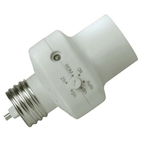 Woods 59406WD Indoor Light Control Socket with Photocell Tim