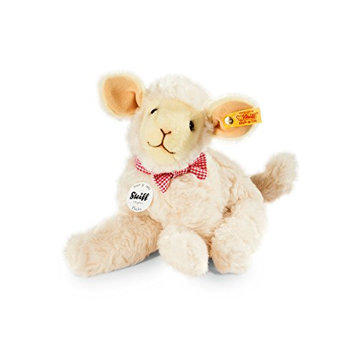 - Steiff Flocky Lamb Plush, Cream