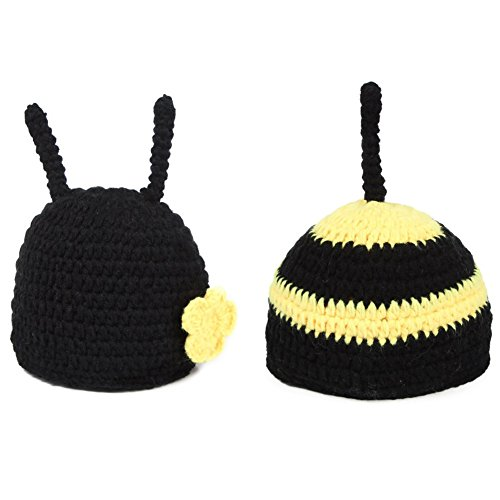 Baby Bumble Bee Outfit (Newborn Photography Props for Girls - Handmade Bumblebee hat and Tushy cover (Bumblebee))