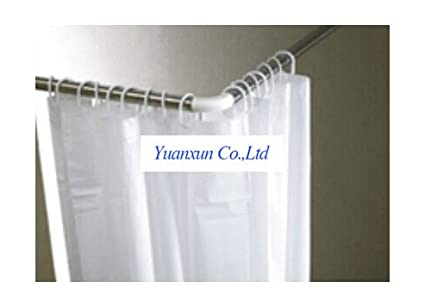 High Grade Stainless Steel L Shaped Aluminum Shower Curtain Rod Hanging Bathroom Fitted