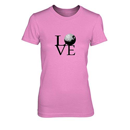 Todesstern Love - Damen T-Shirt, Größe: XL, Farbe: pink