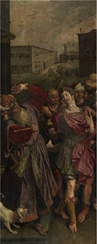 Oil Painting 'Diocletanius Arrests Saint Sebastian By Ambrosius Francken I' Printing On Perfect Effect Canvas , 18x45 Inch / 46x115 Cm ,the Best Bedroom Decoration And Home Artwork And Gifts (Pier 115 Halloween)