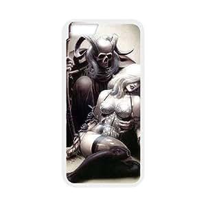 Skull Design iPhone 6 Plus Case White Yearinspace107128
