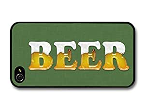 KOKOJIA Accessories Beer Liquid Writing Illustration Funny case for iPhone 4 4S