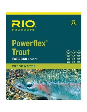 (RIO Products Leaders Powerflex Knotless 7.5' 4X Leaders 3 Pack, Clear)