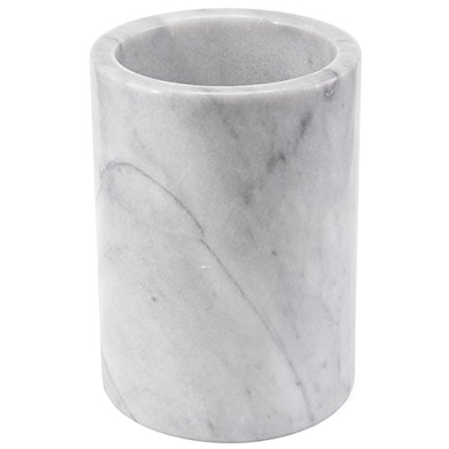 Creative Home 84046 Natural Marble Tool Crock Utensil Holder, 5