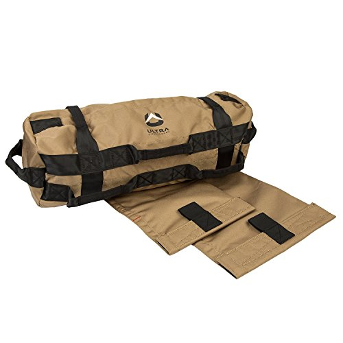 Ultra Fitness Gear Sandbags, Heavy Duty Workout Sand-Bag for Functional Strength Training, Dynamic Load Exercises, Crossfit, WODÕs, General Fitness and Military Conditioning, Medium 25-75 Pounds (lbs)